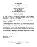 B0318MW Notice of Application