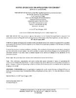 B1717MW Notice of Decision