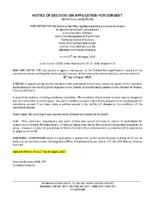 B1817FR Notice of Decision