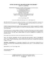 B1917SC Notice of Decision
