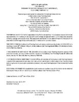 B1218MW Notice of Application