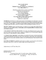 B1818FR Notice of Application