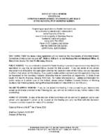 A0318MW Notice of Public Hearing