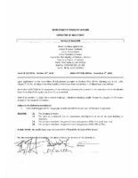 A0518MW Notice of Decision