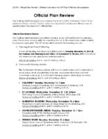 SEPB – Official Plan Review – Website Information