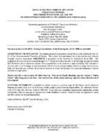 ZBA1902SCR Notice of Receipt of Complete Application