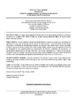 A0219KL Notice of Public Hearing
