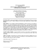 A0719KL Notice of Public Hearing