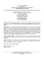 A0819KL Notice of Public Hearing
