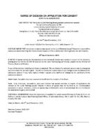 B3619SCR Notice of Decision