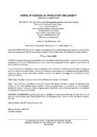 B4119MW Notice of Decision