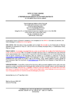 A0520KL Notice of Public Hearing