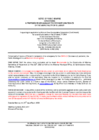 A0620KL Notice of Public Hearing