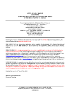 A0720SC Notice of Public Hearing