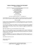 B0520SC Notice of Decision