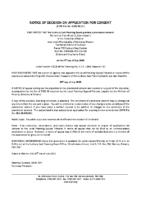 B0620MW Notice of Decision