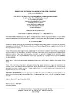 B1520FR Notice of Decision