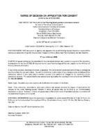 B1720BRW Notice of Decision