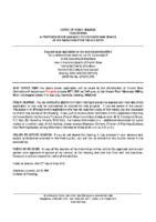 A0521FR Notice of Public Hearing