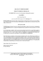 ZBA2106MW Notice of Passage