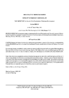 ZBA2107MW Notice of Passage