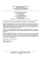 ZBA2111FR Notice of Receipt of Complete Application