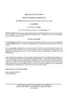 ZBA2111FR Notice of Passage